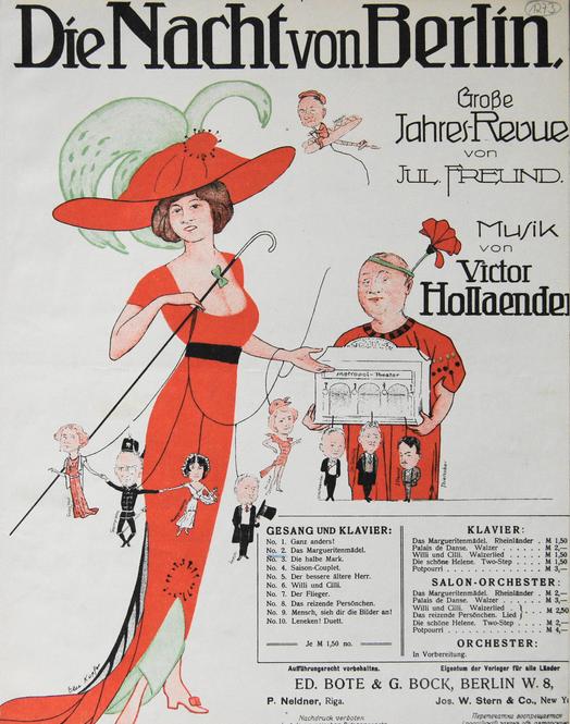"""The Victor Hollaender song """"Die Nacht von Berlin"""" from a Metropoltheater """"Jahresrevue."""""""