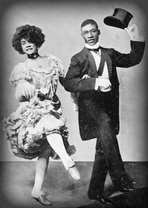 "Aida Overton Walker and George Walker in ""In Dahomey"" during the London run, 1903."