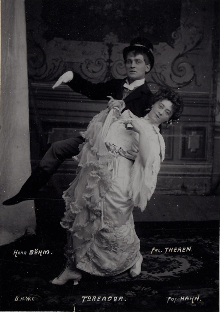 "The stars of ""Der Toreador"" at Theater an der Wien in 1903. (Photo: Johann E. Hahn / Theatermuseum Wien Archive)"