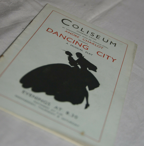 "Theater program for the 1935 London production of ""The Dancing City"" as offered on eBay. (Photo: eBay)"