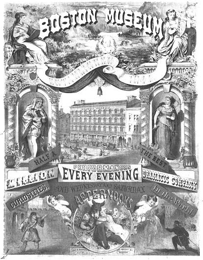 Advertisement for the Boston Museum in the 19th century.