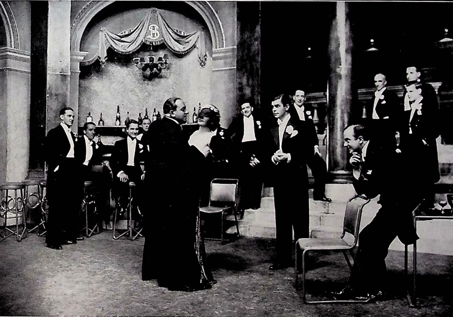 The Marquise de Faublas at the Ball, with Mustapha Bei and other gentlemen. (Photo: Thomas Krebs Archive)
