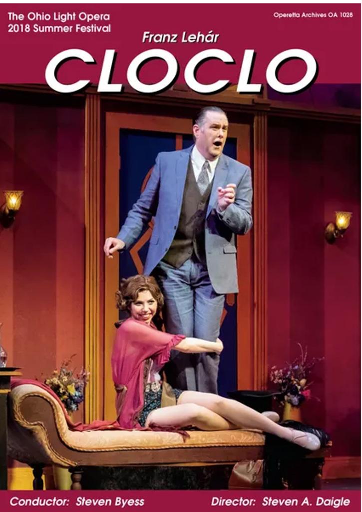 "The DVD cover of ""Clo-Clo"" filmed at Ohio Light Opera in 2018. (Photo: Operetta Archives)"