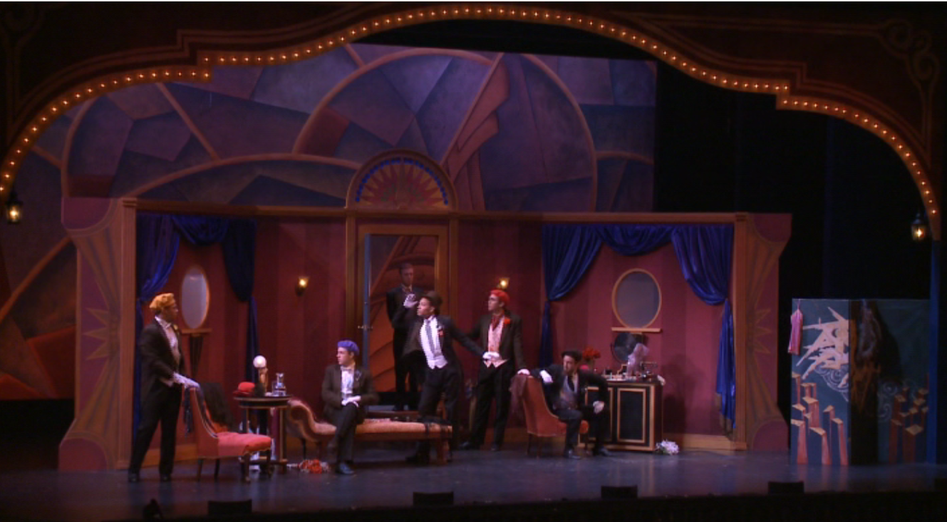 "The opening scene of Lehár's ""Cloclo"" in the production by Steven A. Daigle at Wooster. (Photo: Ohio Light Opera / Screenshot)"