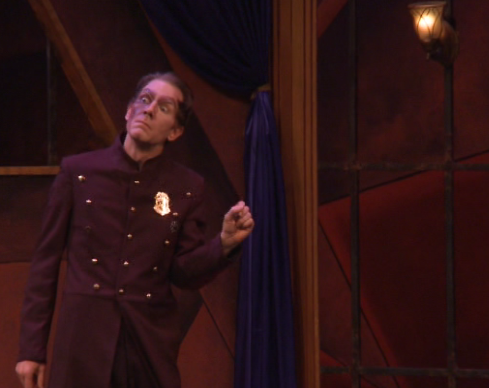 "Nathan Brian as the prison guard in ""Cloclo"" act 3. (Photo: Ohio Light Opera / Screenshot)"