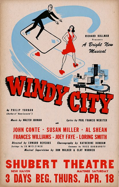 "The ""Windy City"" New Haven tryout window card."