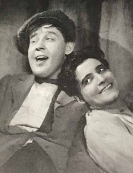 "Ivor Novello in ""Liliom"" in 1926, a West End staging with Charles Laughton as his partner. The famous Molnar play was later turned into the musical ""Carousel"" by Rodgers & Hammerstein. (Photo: Archive David Slattery-Christy)"