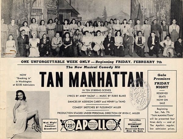 "Advertisement for the ""Tan Manhattan"" revue of 1941."