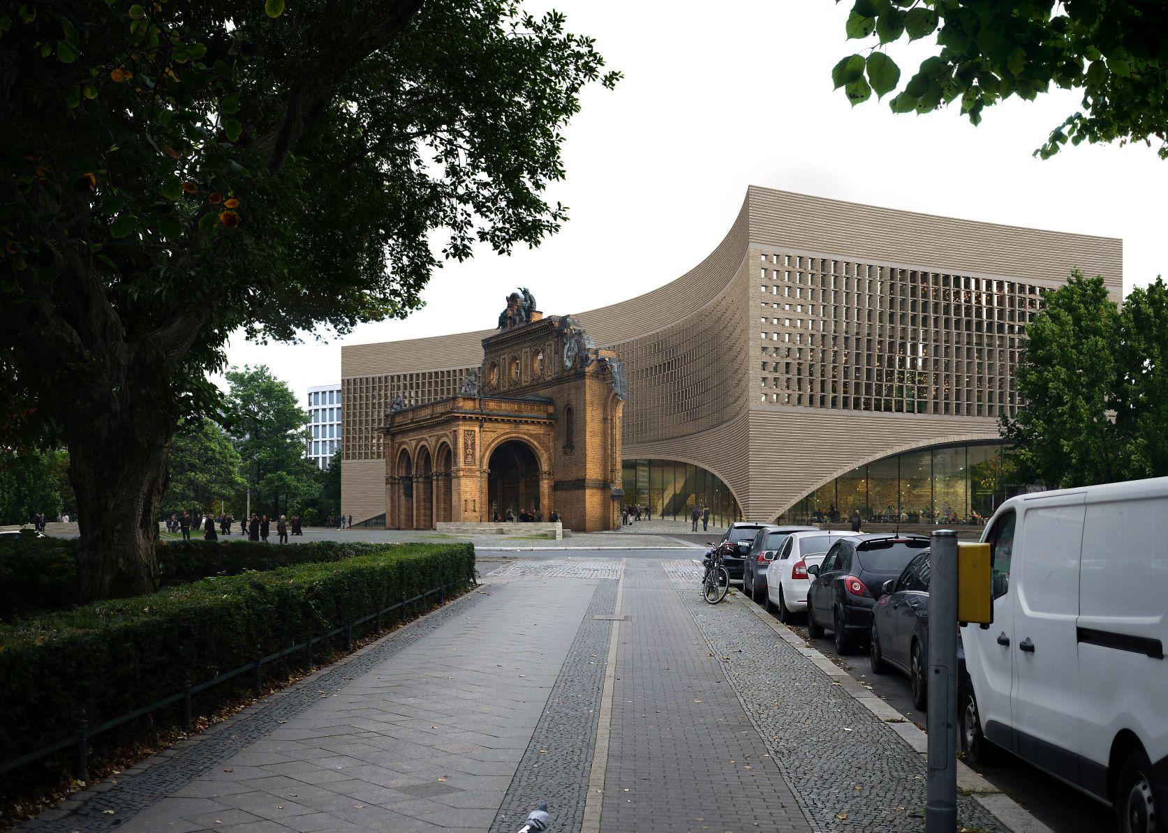 """The winner for the new """"Exilmuseum"""" in Berlin at Anhalter Bahnhof. (Photo: Dorte Mandrup Arkitekter A/S, Copenhagen)"""