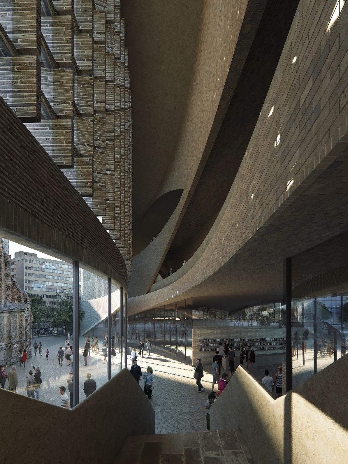 "The future inside of the new ""Exilmuseum"" in Berlin. (Photo: Dorte Mandrup Arkitekter A/S, Copenhagen)"