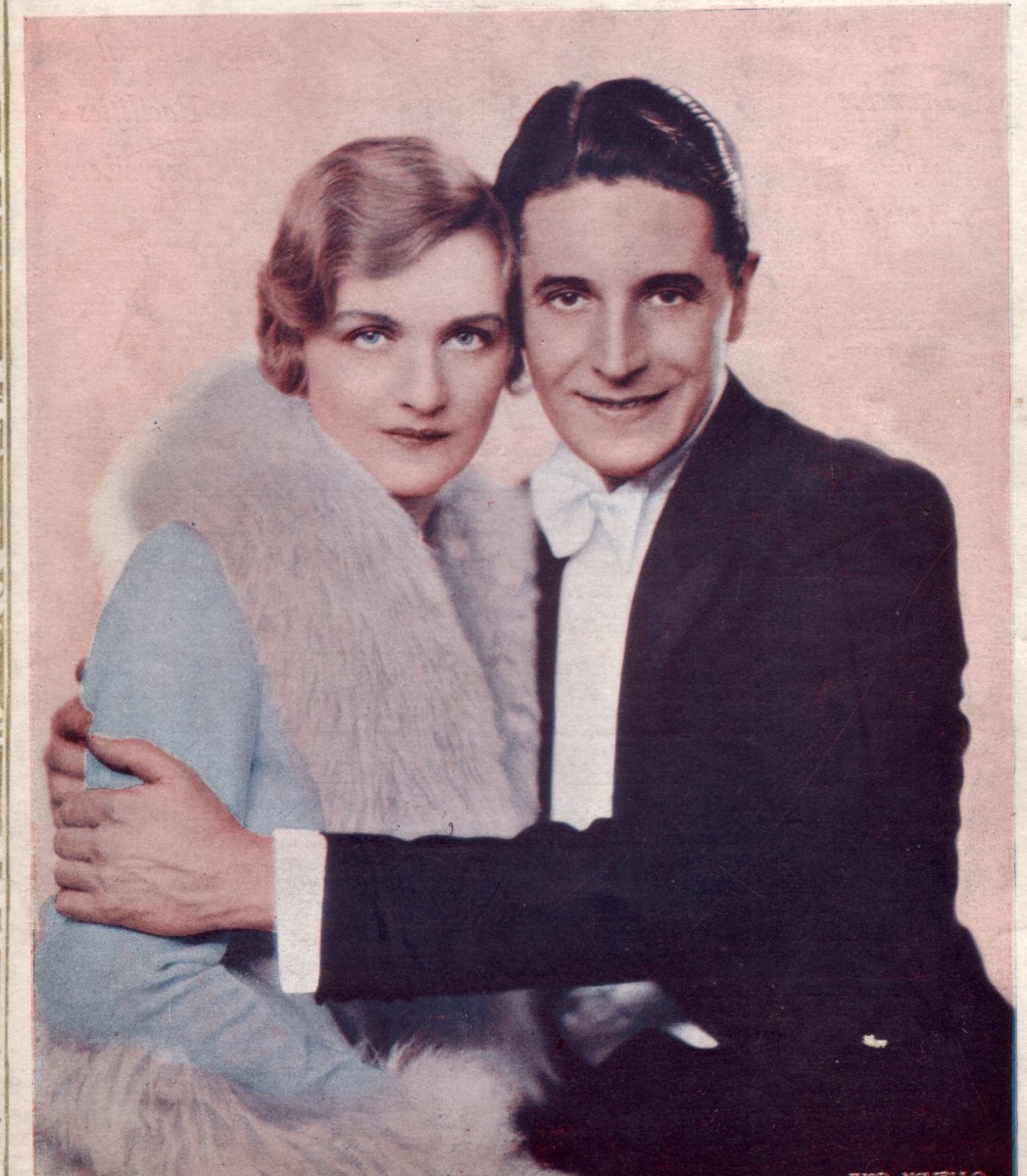 "Lily Elsie with Ivor Novello who she appeared with in 1928 in ""The Truth Game ."" (Photo: David Slattery-Christy Archive)"