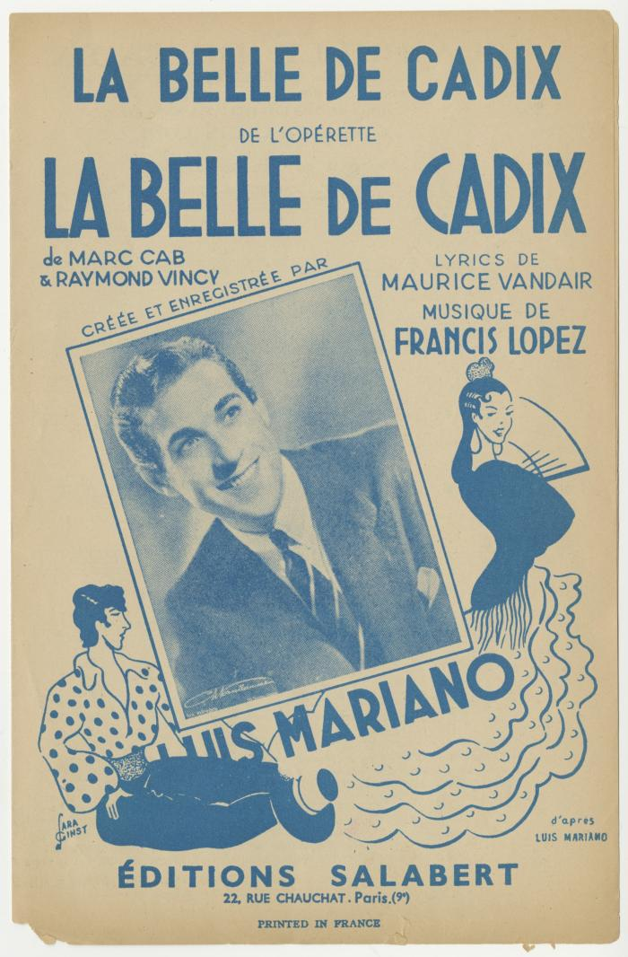 "A 1946 sheet music edition of ""La Belle de Cadix."" (Photo: Editions Salabert)"