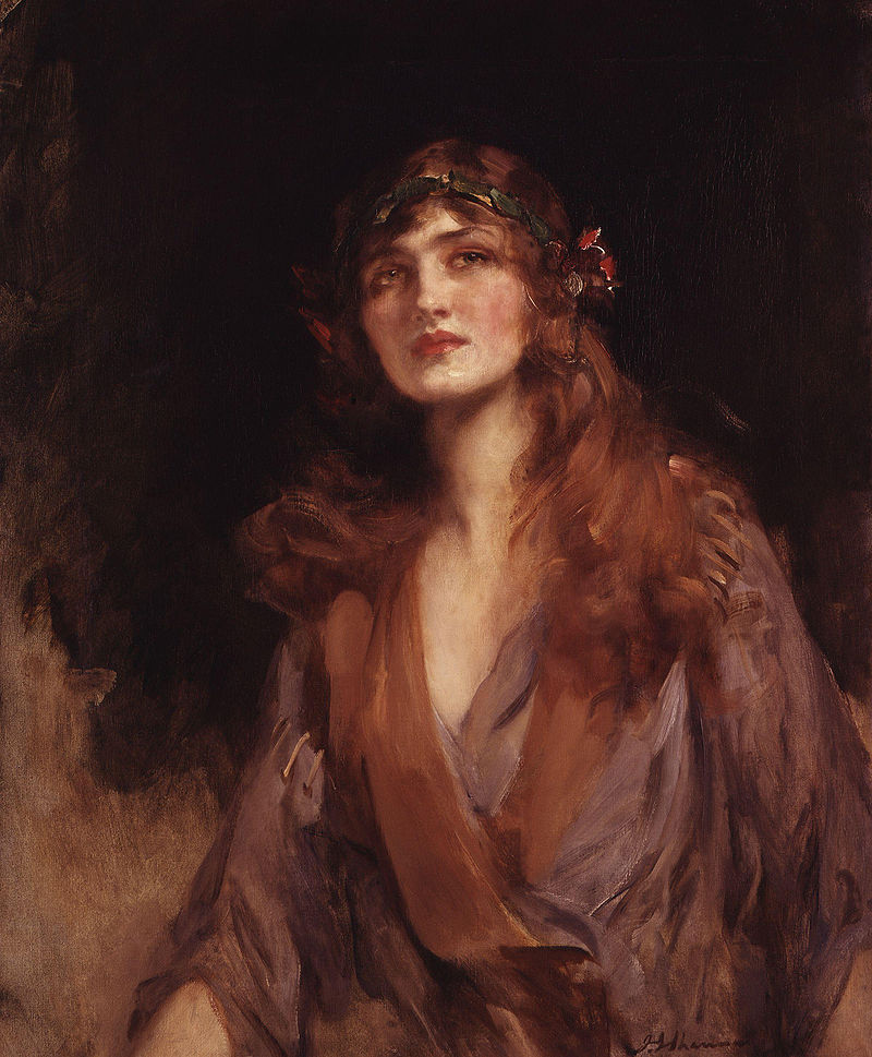 Lily Elsie (Mrs Bullough), painted by Sir James Jebusa Shannon. (Photo: National Portrait Gallery)