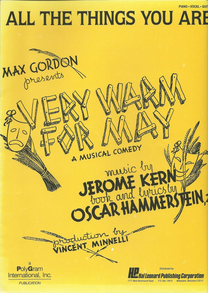 "The cover of the vocal score for ""Very Warm for May."""