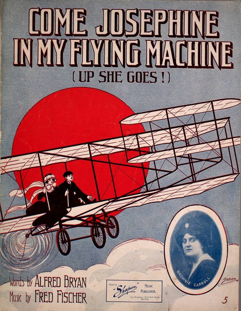 "Sheet music cover for ""Up She Goes."""