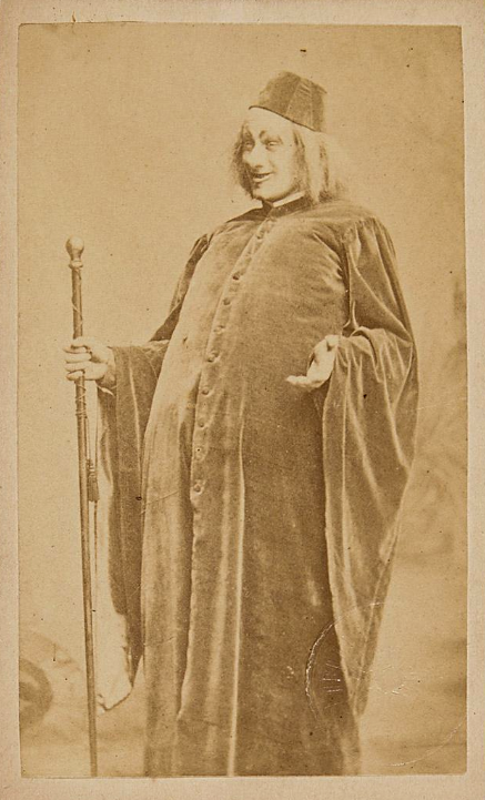 "Karl Lindau  as senator Barbaruccio in ""Eine Nacht in Venedig,"" Vienna 1883. (Photo: Anonymous / Theatermuseum Wien)"