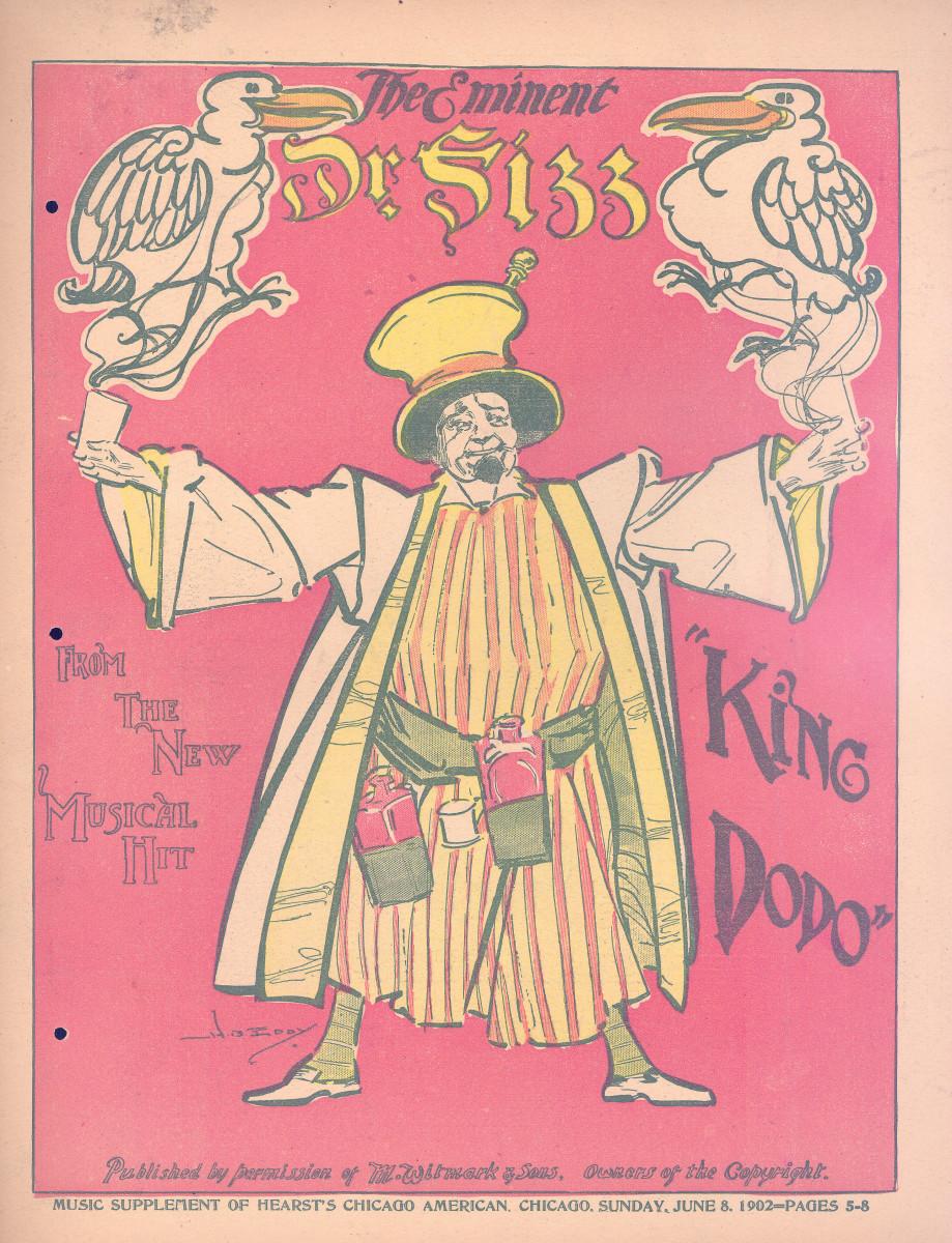 """Sheet music cover for """"King Dodo,"""" the 1902 hit."""