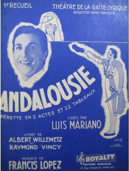 """Program for the """"Andalousie"""" production at the Théâtre de la Gaîté-Lyrique. (Photo: ebay)"""