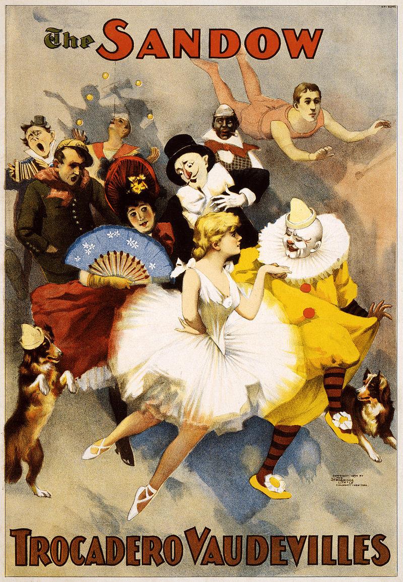 "Poster for the ""Sandow Trocadero Vaudevilles,"" 1894. (Photo: Strobridge Lithographing Co., Cincinnati & New York)"