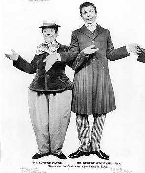 """Edmund Payne and George Grossmith (as the Genie) in """"The New Aladdin."""""""