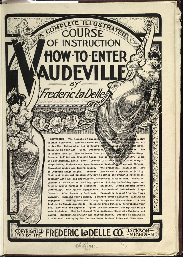 """A 1913 """"how-to"""" booklet for would-be vaudevillians. (Photo: Excelsior Printing Company)"""