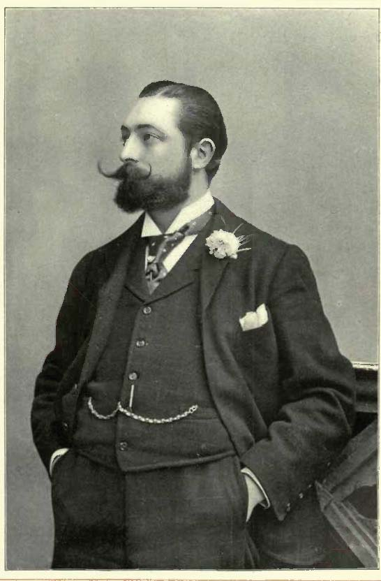"""Composer Ivan Caryll with a dashing beard in 1897. (Photo: Alfred Ellis, from the 1903 publication """"Good Old Gaiety"""")"""