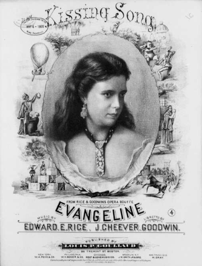 """The """"Kissing Song"""" from """"Evangeline."""" (Photo: Library of Congress)"""