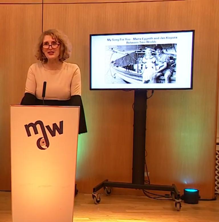 Opening words from Ulrike Sych, from mdw – Universität für Musik und darstellende Kunst Wien. (Photo: Screenshot)