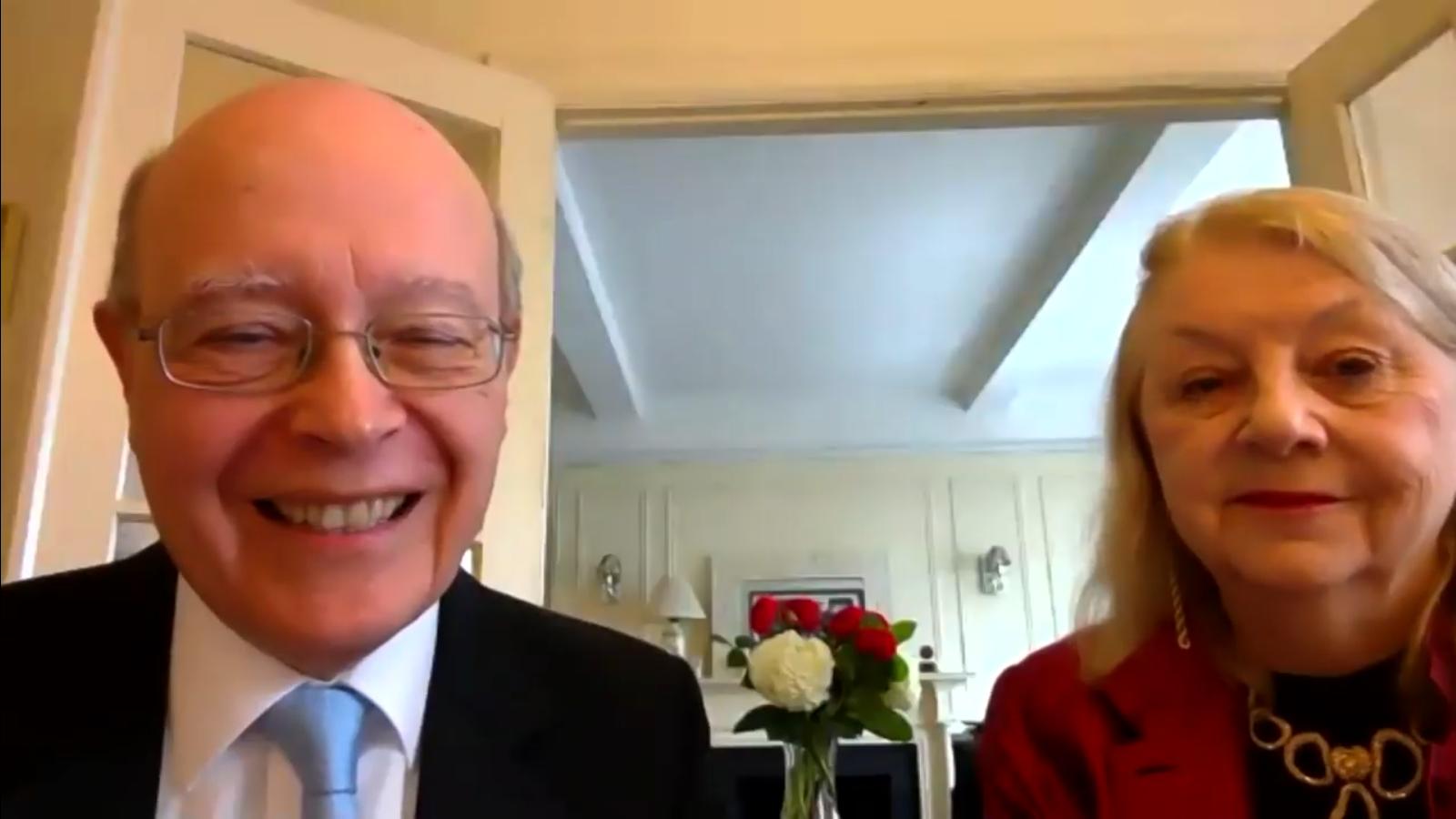 Marjan Kiepura and his wife Jane Knox-Kiepura were part of the online ceremony and discussion. (Photo: Screenshot)