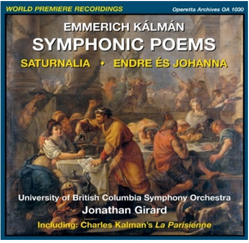 The cover of the new CD with Emmerich Kálmán's Symphomic Poems. (Photo: Operetta Archives)