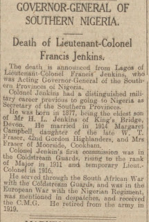 A newspaper article on the death of Captain Francis Jenkins. (Photo: Kurt Gänzl Archive)