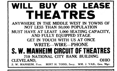 A 1922 advertisement. (Photo: Kurt Gänzl Archive)