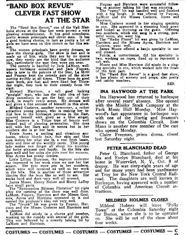 "A 1922 newspaper article on ""The Bandbox Revue."" (Photo: Kurt Gänzl Archive)"