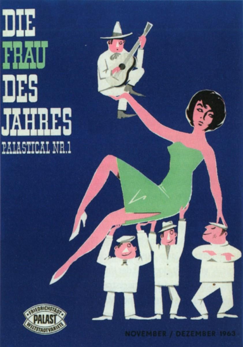 """Poster for """"Die Frau des Jahres,"""" Friedrichstadtpalast 1963."""