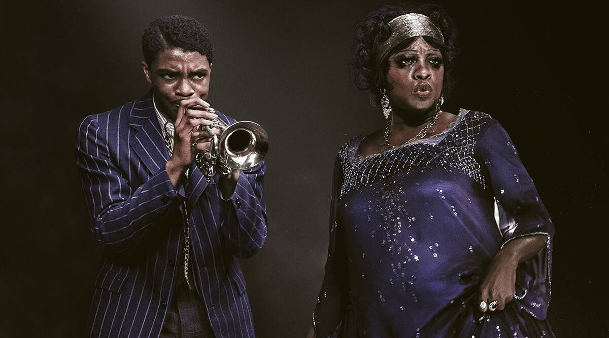 "Chadwick Boseman and Viola Davis in ""Ma Rainey's Black Bottom."" (Photo: Netflix)"
