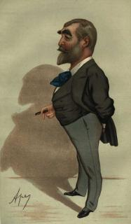 "A drawing of Francis C. Burnand from ""Vanity Fair,"" 1881. (By Carlo Pellegrini)"