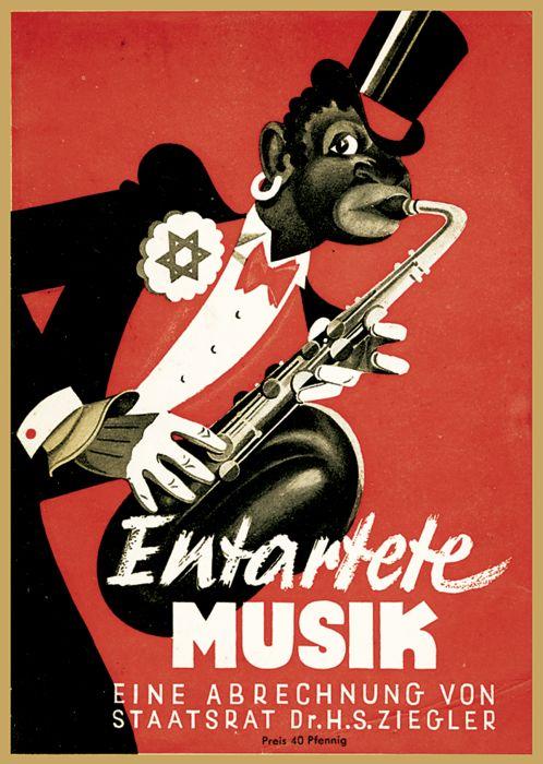 "In 1938 Hans Severus Ziegler presented his exhibition (and catalogue) ""Entartete Musik."" (Photo: Operetta Research Center)"