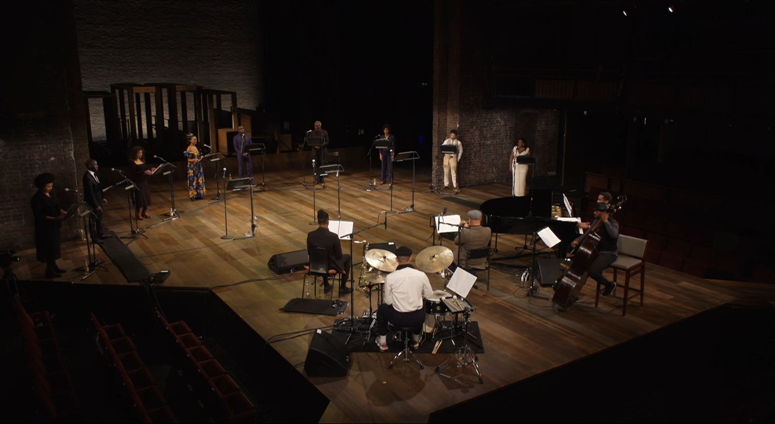 "The 2021 RSC cast presented ""Swingin' the Dream"" as an online concert. (Photo: RSC / Screenshot)"
