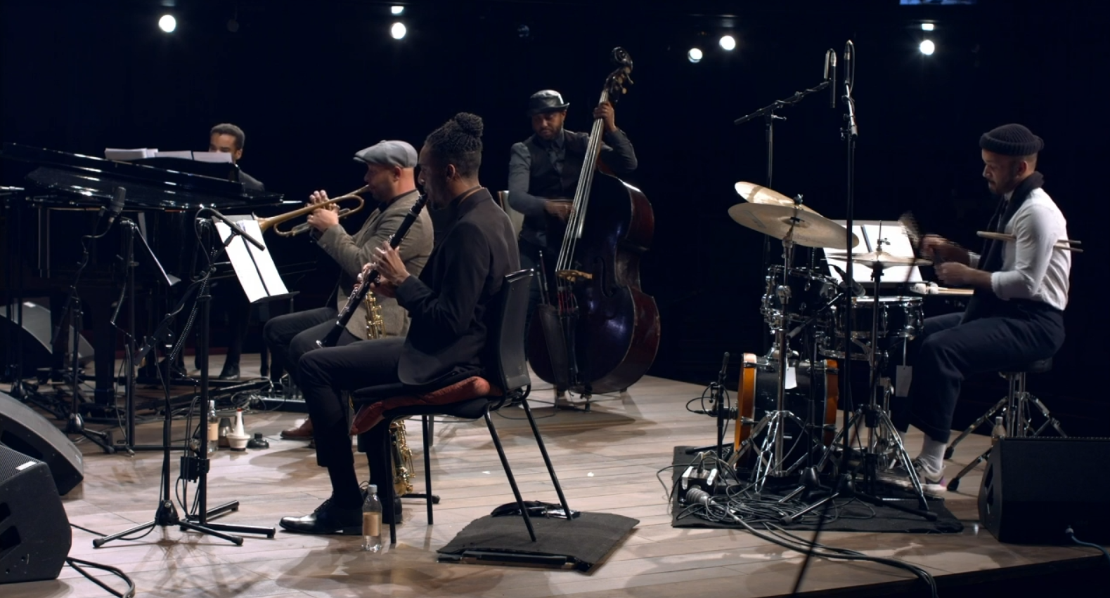 "The jazz band that played the ""Swingin' the Dream"" music at the 2021 RSC concert. (Photo: RSC / Screenshot)"