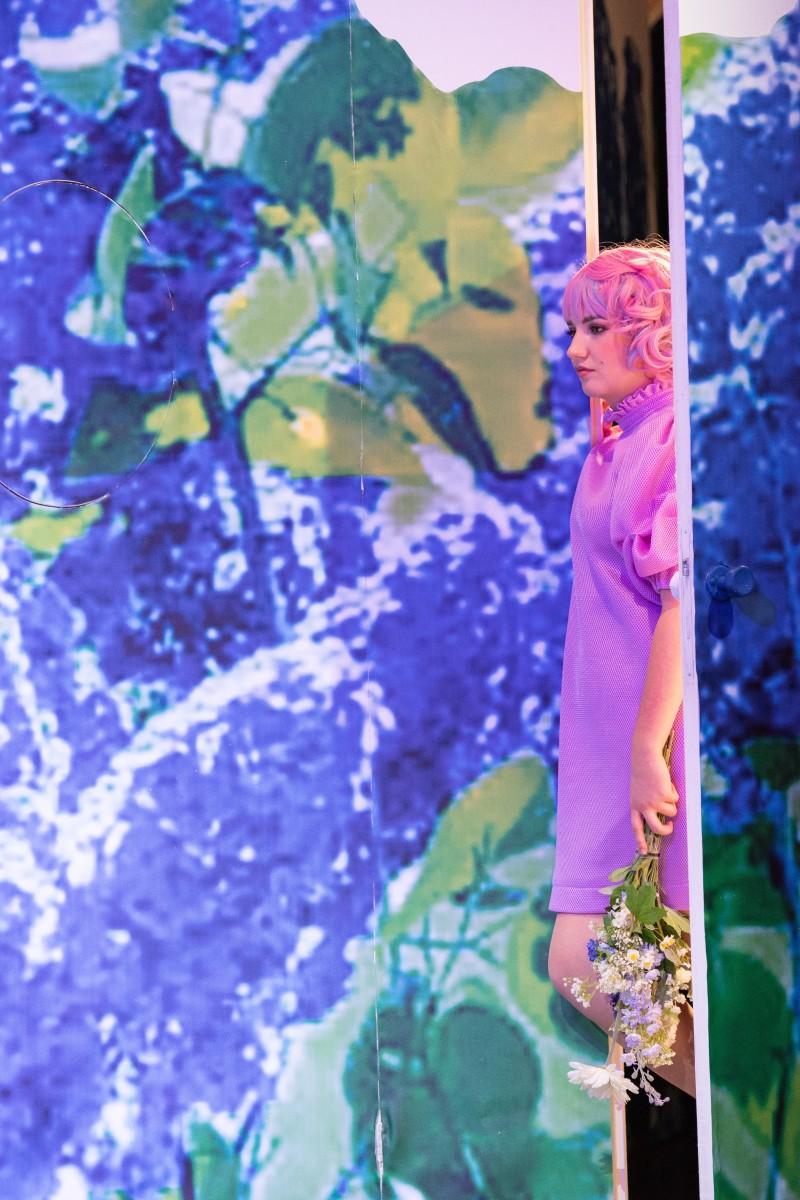 """Hedwig Ritter als Hannerl im """"Dreimäderlhaus"""" in Linz, 2020. (Foto: Petra Moser / Landestheater Linz)"""