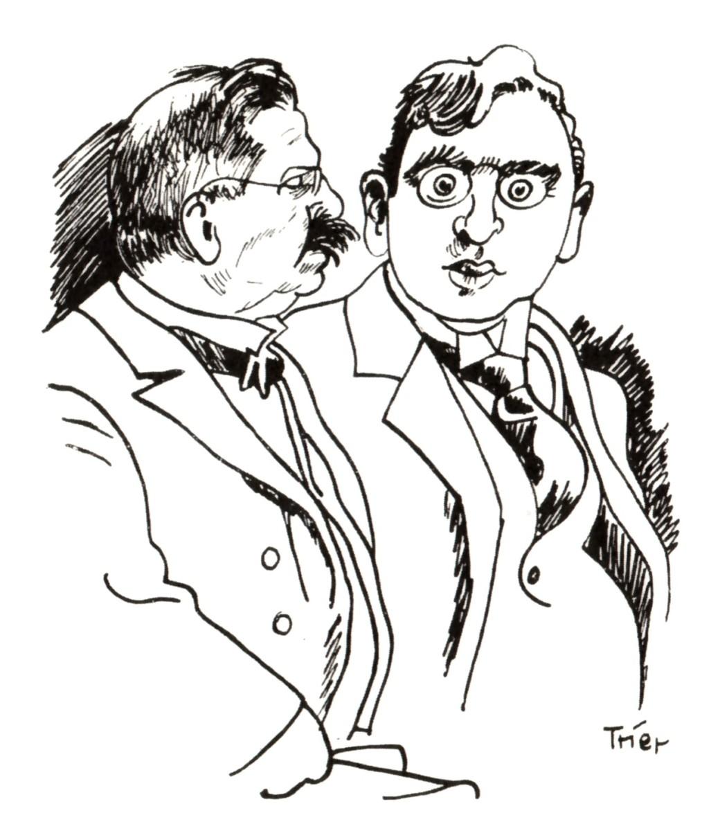 """Regisseur Richard Oswald (r.) zusammen mit dem Sexualwissenschaftler Magnus Hirschfeld. Gemeinsam realisierten sie 1919 den Film """"Anders als die Andern"""". Ein Jahr zuvor verfilmte Oswald das """"Dreimäderlhaus.)"""