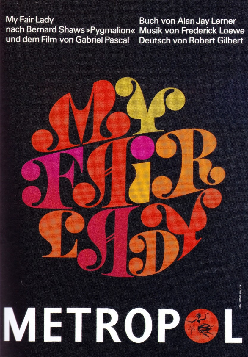 "Poster für die ""My Fair Lady""-Produktion am Metropoltheater, 1966."