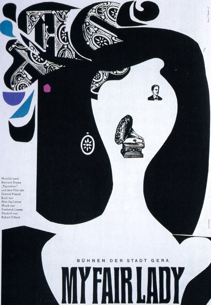 "Poster für die ""My Fair Lady""-Produktion in Gera, 1967."