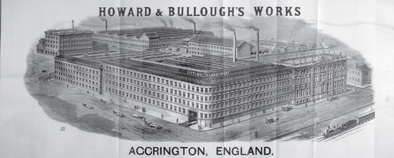The Howard and Bulloughs Factory in 1892.