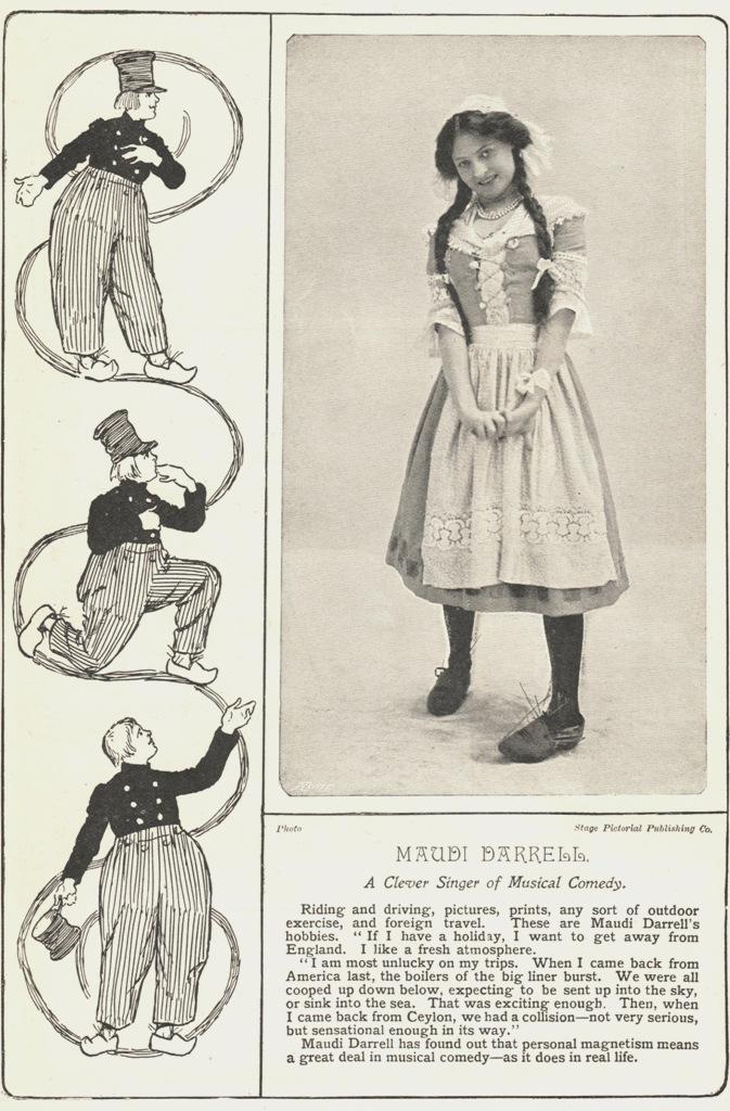 "Maudi Darrell in ""Dutch"" attire as seen in ""The Royal Magazine"" in 1905. (Photo: Thomas Krebs Archive)"