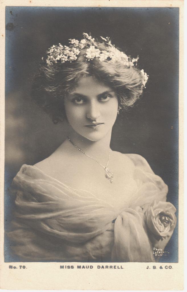 Miss Maud Darrell photographed by Lafayette, Dublin. (Photo: Thomas Krebs Archive)
