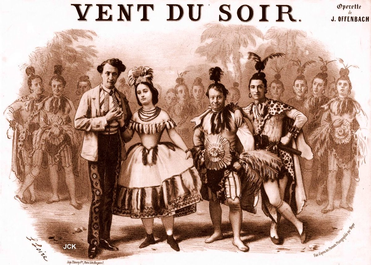 "Sheet music cover for Offenbach's ""Vent-du-soir ou l'horrible festin."""