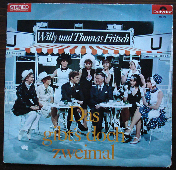 """The LP cover of """"Das gibt's doch zweimal"""" with Willy and Thomas Fritsch."""