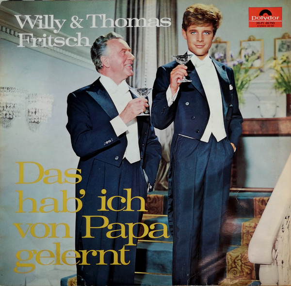 """The LP cover of """"Das hab' ich von Papa gelernt"""" with Willy (l.) and Thomas Fritsch. (Photo: Polydor)"""