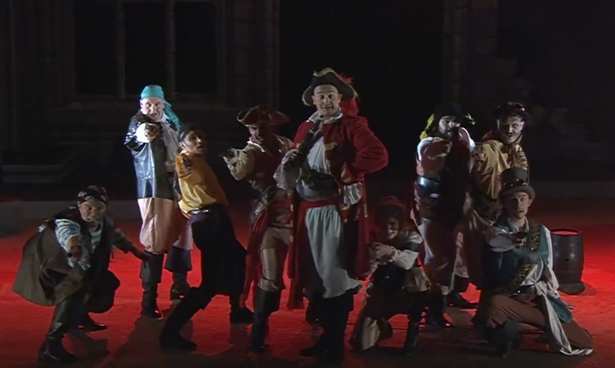 """A scene from the """"Pirates of Penzance"""" production, Buxton 2019. (Photo: Screenshot)"""